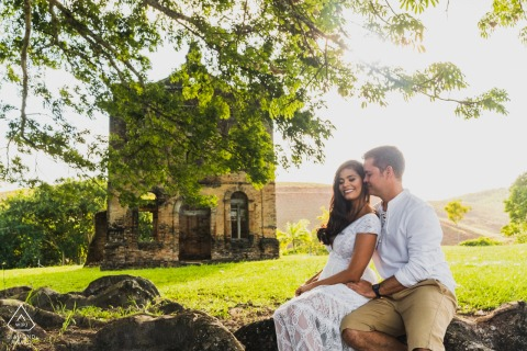 São Luis do Quitunde, AL environmental engagement e-session showing an old building testifies to love
