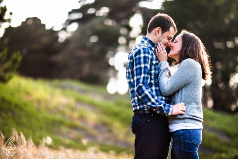 San Francisco environmental engagement e-session capturing The love and happiness beyond words
