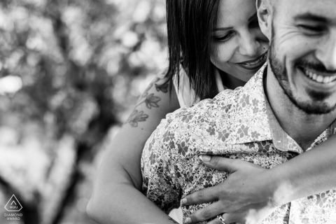 True Love Engagement Portrait Session in Slovenia showing a couple in BW with some great Hugs and smiles