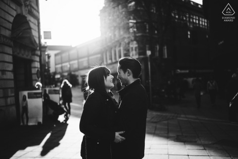 Norfolk couple e-session in the streets of Norwich