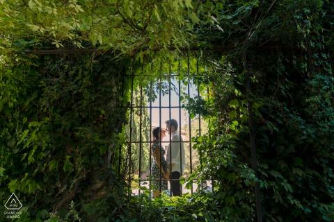 Granada, Spain e-shoot at Palacio de los Cordova in an archway screened by bars and a gate