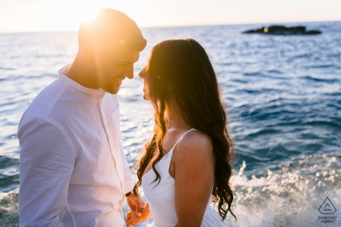 On location Tropea, italy couple session by the sea