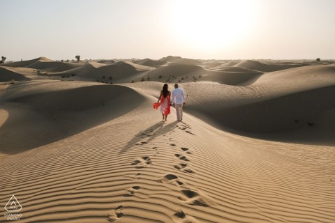 Dubai Engagement Portrait Photograph by Bernie Richardson