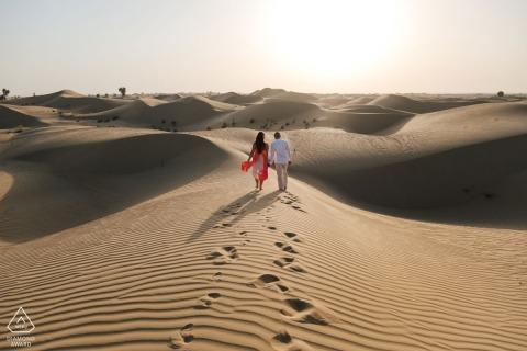 Dubai Engagement Portrait Photograph by Bernie Richardson