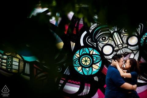 Portret zaręczynowy w Chicago Zdjęcie Candice C. Cusic