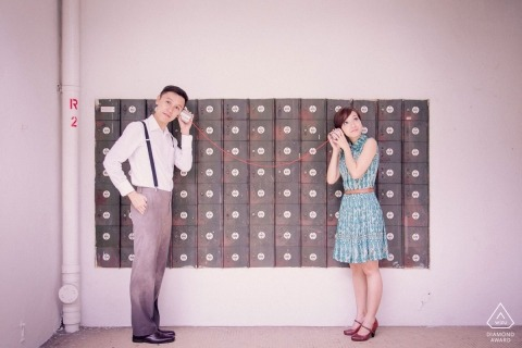 Singapore Engagement Portrait Photograph by Charles Sng