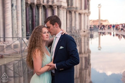 Venice Engagement Portrait Photograph by Michele Agostinis