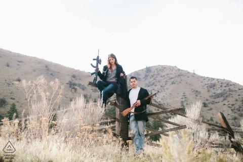 Auburn Engagement Portrait Photograph by Ron Storer