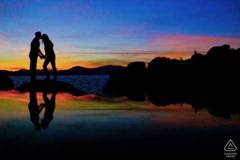 Lake Tahoe Engagement Portrait Photograph by Shaunte Dittmar