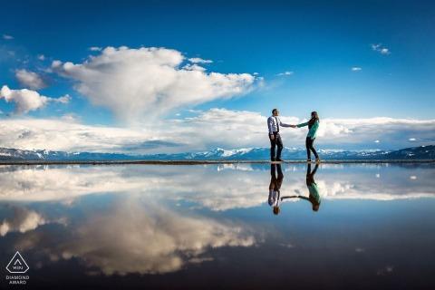 Lake Tahoe Engagement Portrait Photograph by Shaunte Dittmar