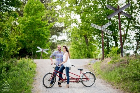 Saratoga Springs Engagement Portrait Foto door Tracey Buyce