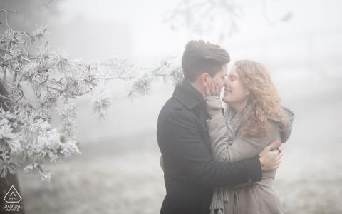 La Neuveville Engagement Portrait Photograph by Vincent Bourrut