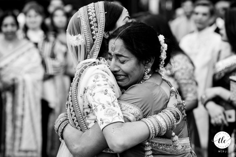 Wedding image from London, UK of the Mother of the bride crying