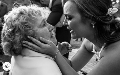 Maceió, Alagoas everlasting true love image showing the Bride receives her grandmother's wedding rings and cries when she sees her