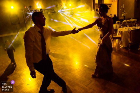 Castlewood Country Club in Pleasanton California - Wedding Photograph of Yellow Light Dancing