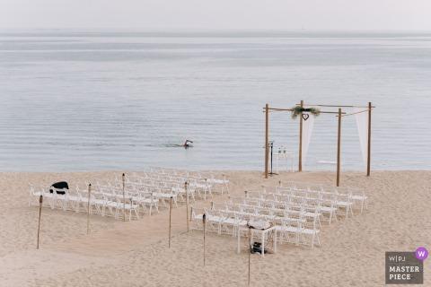 Barcelona wedding ceremony on the beach