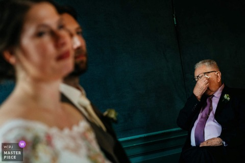Man gets emotional during the wedding ceremony in Utrecht