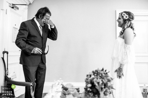 Oxfordshire UK father gets emotional seeing his daughter in her dress