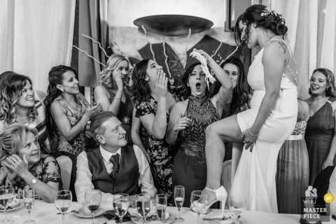 Madrid bridal party having fun at the wedding reception