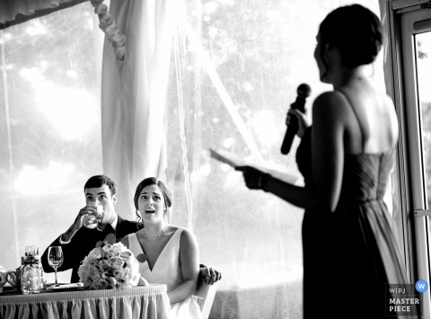 Basking Ridge Country Club Wedding, NJ - made of honor speech
