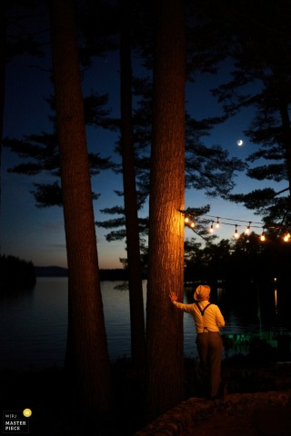 A wedding at Migis Lodge, Maine | Sebago Lake wedding photograph