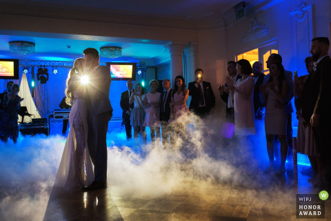 Poland bride and groom have their first dance