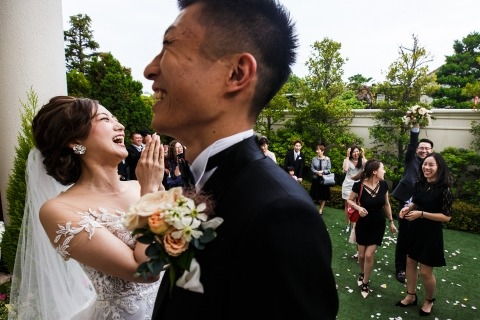 Vinci Wang, of, is een trouwfotograaf voor