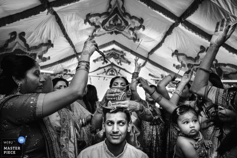 reno, ca traditional wedding ceremony photo of the groom