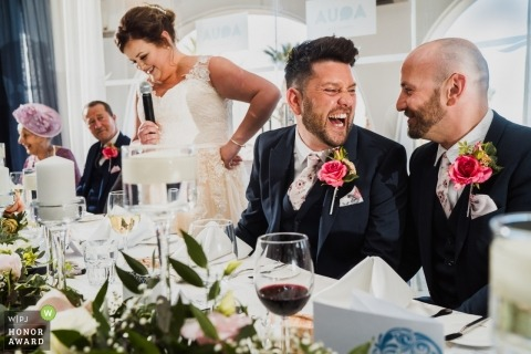 Groom laughed as bride does her speech in Albuefeira