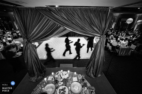 Washington DC wedding picture of food vendors serving tables.