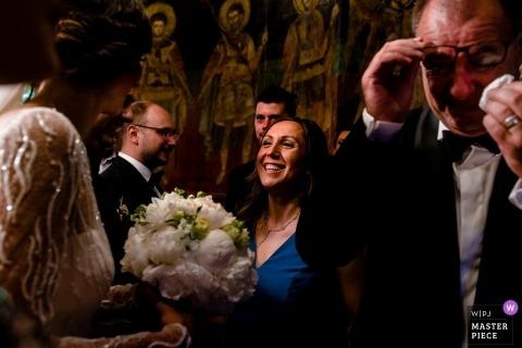 București Wedding Photojournalism | tears for dad Joy for the bride