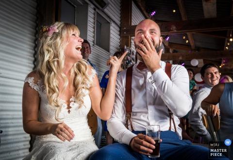 when your friends surprise movie is a big hit at the wedding reception | strand Binnen - Breda (Netherlands)