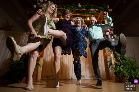 Family Dancing at this Minnesota wedding reception party.