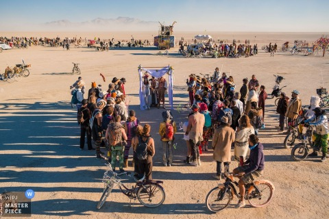 Burning Man elopement Wedding Ceremony photo from Black Rock City, NV