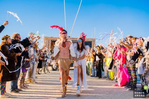 Black Rock City, NV - Burning Man wedding ceremony photograph