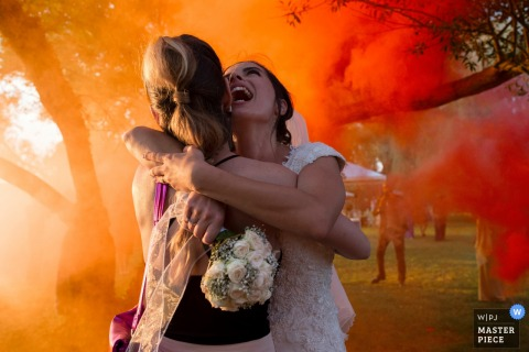 bride and bridesmaid Photo - Tenuta del Polline, Rome