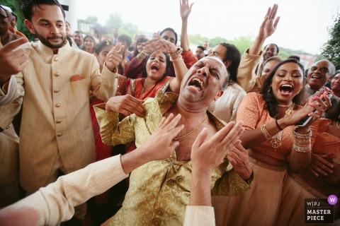 Nueva York Baraat - procesión de boda india