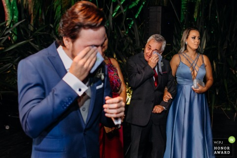 Everyone gets emotional during the ceremony at the Party Room - Porto Alegre