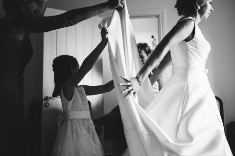 倫敦的Wayne La是英國肯特新娘家庭的婚禮攝影師