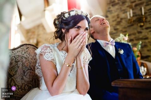 Mariage français romantique et amusant | Château de la Colaissière, 49270 Orée d'Anjou