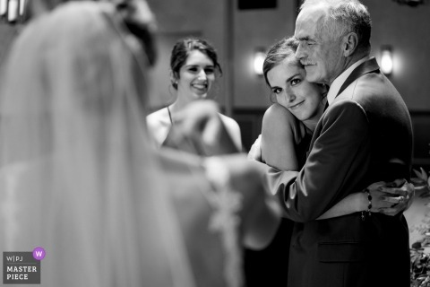 Father of bride and her sister react to seeing bride for the first time | Spartanburg, South Carolina