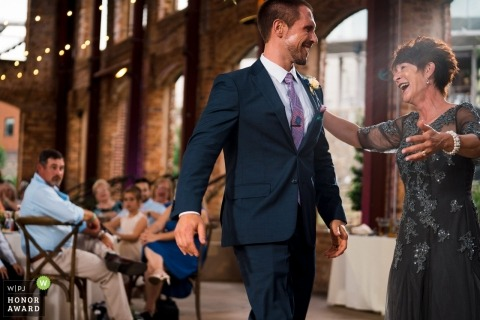 Greenville South Carolina Groom dancing with mother at wedding reception