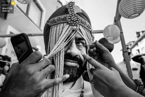 Indiase bestemming bruiloft München | de zuster schildert de speciale Indische ceremonie van het bruidegomoog