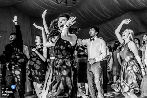 Bucharest Wedding Photojournalist | let the dance party begin at this Romania wedding reception