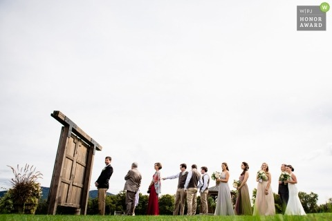 Chittenden, Vermont bridal party waits for the ceremony to begin