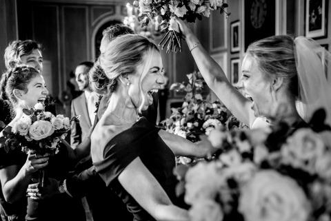 damas de honor, novia, post ceremonia, celebración