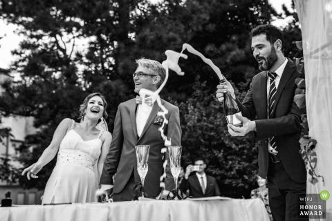 Cérémonie du champagne, juste avant le ... - Sofia, Bulgarie Photographie de mariage