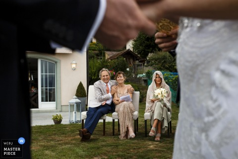 elopement ceremony at laussane | photo of the bride's family