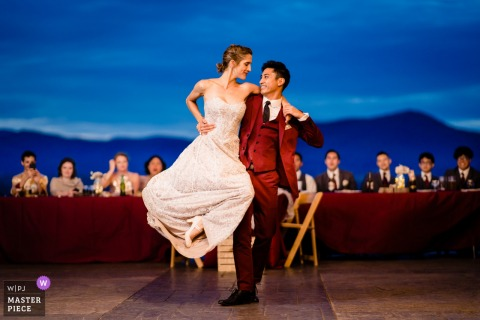 Shenandoah Woods, Luray, VA Wedding Photo - Incredible Lift First Dance