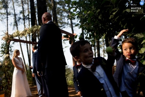San Jose Wedding Photojournalist | children play during an outdoor wedding in northern California